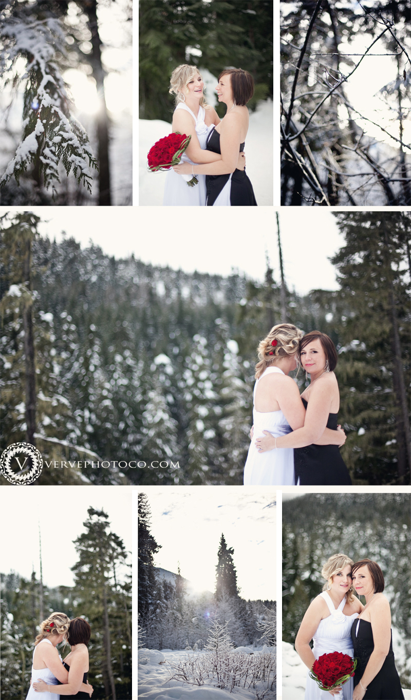 Whistler winter wedding photography