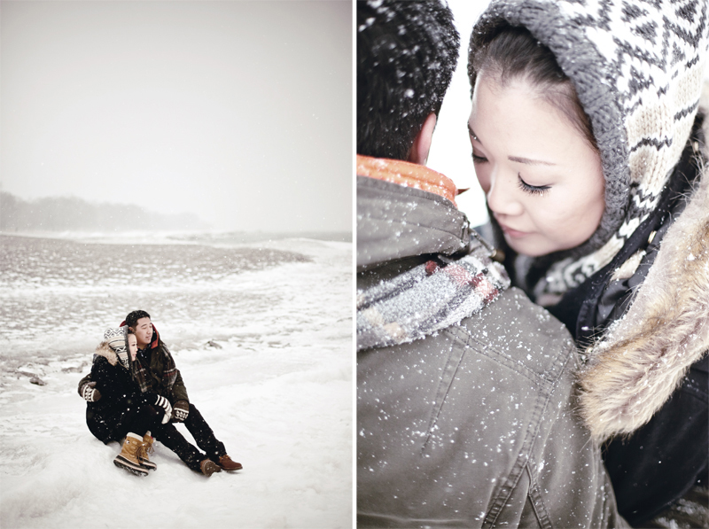 Toronto winter engagement, Toronto beach engagement