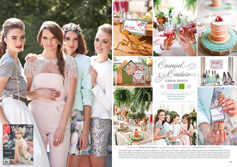 Carousel Couture, Bridal Brunch, Elegant Wedding
