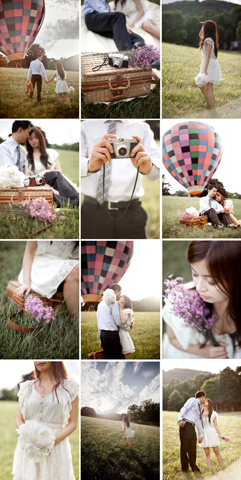 destination wedding and engagement photographer toronto, hot air balloon engagement